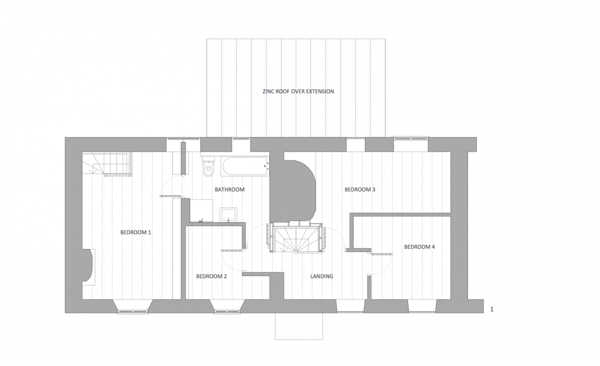 Thatched roof cottage floor plans for Thatched house plans